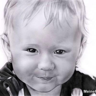 Mädchen porträt gezeichnet