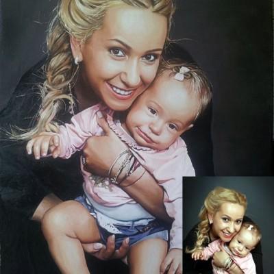 Mutter mit Kinder portrat