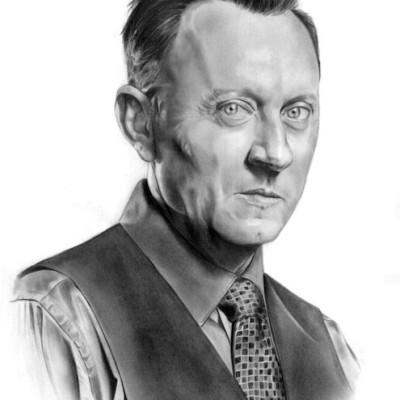 Porträt Mann Bleistift