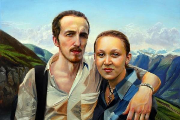 Porträt romantischen Paar