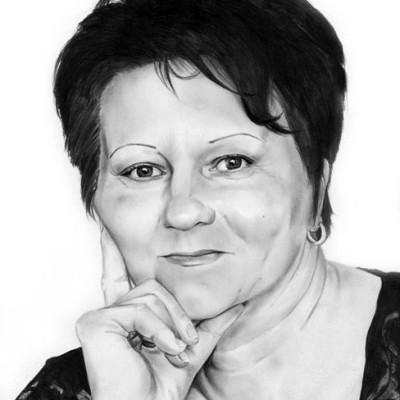 Portrait Mama Bleistift
