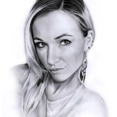 schöne Frauen Portrait zeichnung