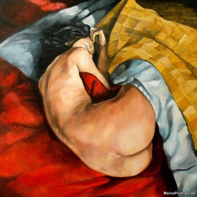 Malerei nackte Frau