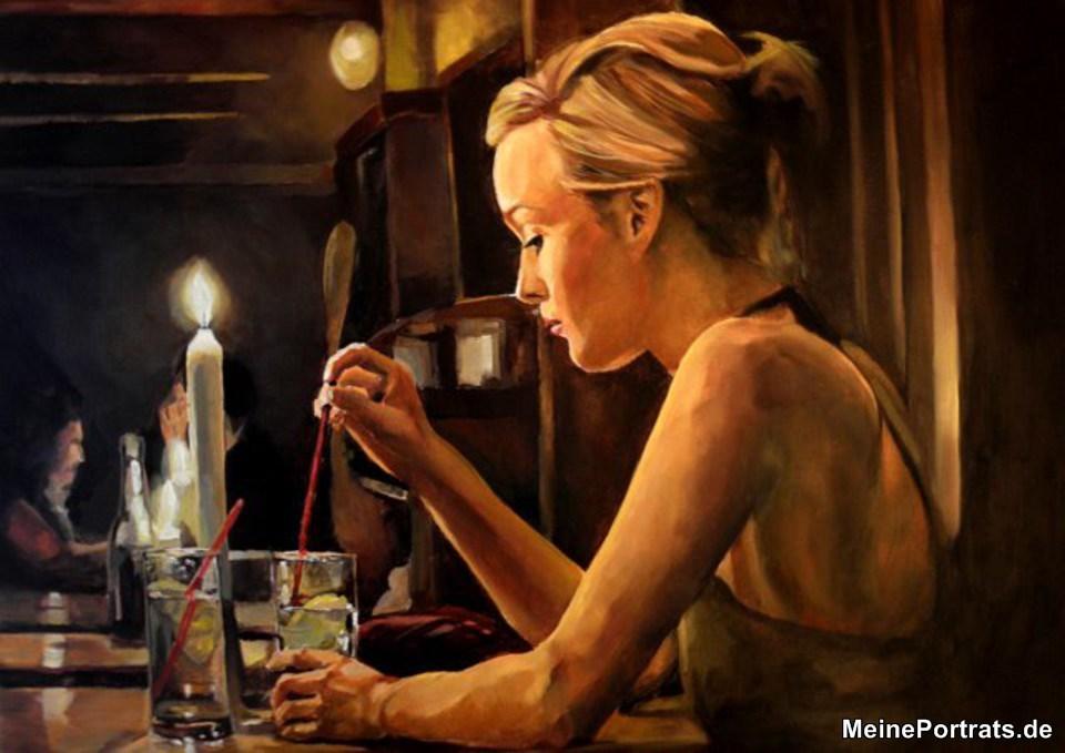 Ehefrau Malerei auf Leinwand