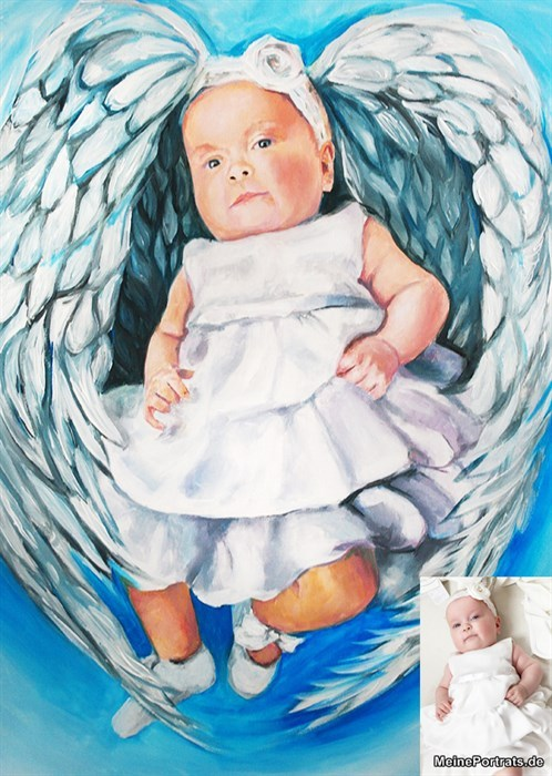 Gemälde baby engel Taufe