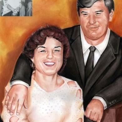 Pastell Porträt von Eltern