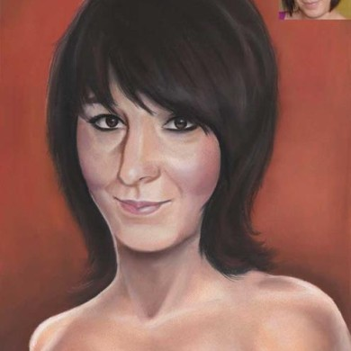 Pastell portrait Ehefrau