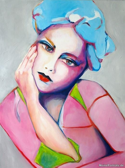 abstrakte Porträt Malerei Frau