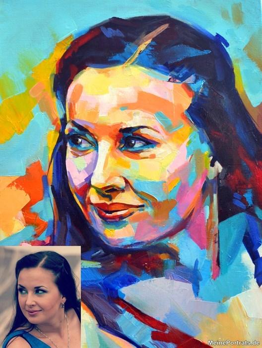 abstrakte PortraitMalerei Freundin