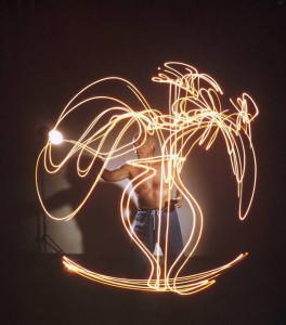 Picasso Lichtmalerei