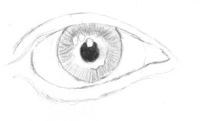Auge Highlights und Schatten