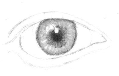 Realistisches Auge zeichnen